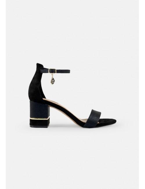 Γυναικείο παπούτσι EXE  M4700299460F δέρμα ΜΑΥΡΟ ΚΑΣΤΟΡΙ ΜΑΥΡΟ ΦΙΔΙ
